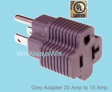 UL Plug Adapter, NEMA 5-15R/5-20R, takes 5-20P/5-15P to 5-15P good for Power Amp