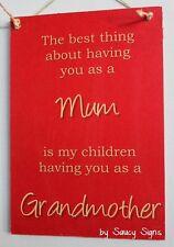Mum Grandmother Love Sign - Children Grandma Mother Kids Chic Rustic Home Decor