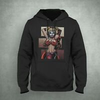 Deadpool Harley Quinn Hoodie Size S-5XL Made In USA Funny And Crazy