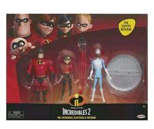 Nip New 3 pk The Incredibles 2 Mr. Incredible Elastigirl & Frozone 4 Inch Figure