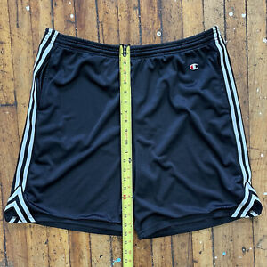 Vintage Champion Black & White Athletic XL Basketball Shorts