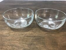 Two Avon Hummingbird Cereal Bowls
