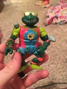 Mike, the Sewer Surfer - Teenage Mutant Ninja Turtles-Vintage TMNT Action Figure