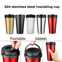 500ML Vacuum Cups Thermos Stainless Steel Travel Tea Coffee Water Mugs
