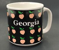 Vintage Georgia Peach Souviner Coffee Mug Tea Cup