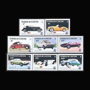 Turks & Caicos, Sc #605-12, MNH, 1984, Classic Cars, Automobiles, FDDD-A