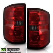 2014-2018 Chevy Silverado 1500 2500HD 3500HD Red Smoked Tail Lights Brake Lamps