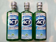 LOT(3) ACT ANTICAVITY FLOURIDE  ZERO ALCOHOL MINT MOUTHWASH   18 FL OZ