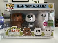 Funko Pop! We Bare Bears Flocked 3 Pack Barnes & Noble Exclusive NEW