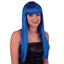 Parrucca Pretty blu capelli lunghi lisci