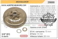 "29888 Oregon Piñón Campana Embrague Motosierra MCCULLOCH Minimac 3/8"" 6 Dientes"