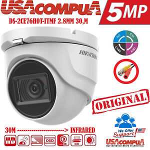 HIKVISION 5MP DOME CAMERA DS-2CE56H0T-ITMF HD-TVI Outdoor BNC-IP67-WDR-IR20M-2.8