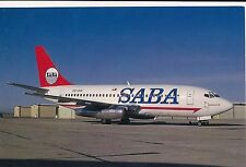 POSTCARD   AVIATION    Boeing 737 - 247   SABA