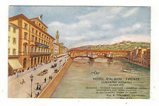 ITALY. HOTEL D,ALBION FIRENZE ADVERT. OLD PRINTED POSTCARD