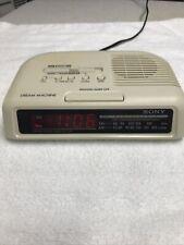 Sony Dream Machine Am Fm Radio Alarm Clock W/ Battery Backup