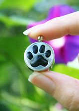 Cremation Jewelry Pendant Urn for Ashes Pet Paw Print Dog Cat Memorial Gift USA