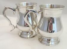 A Good Pair of Silver Plated Tankards - 1977 Rowing Trophies - RAF Akrotiri