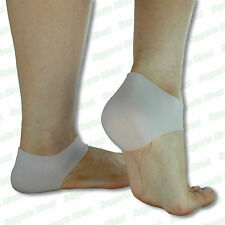 Silicone Gel Heel Cups Protector Moisturising Cracked Foot Hard Dry Skin Cushion