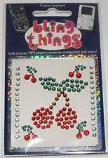 Cherry Cherries Crystal Appliqué Cell Phone BLING THING iPhone iPod Sticker