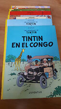 COLECCION COMPLETA LAS AVENTURAS DE TINTIN, LOTE DE 23 COMICS EN TAPA DURA