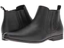 Brand New Guess Mens Garrison2 Black Leather Ankle Boot Sz 10M