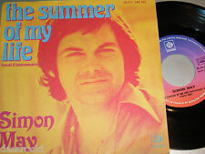 """7"""" - Simon May/Summer of My Life & strumentale-French 1976 # 3514"""