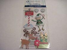Scrapbooking Stickers Sandylion Essentials Dimensional Christmas North Pole Elf