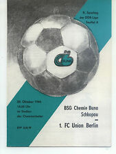 DDR-Liga 84/85 BSG Chemie Buna Schkopau - 1. FC Union Berlino, 28.10.1984
