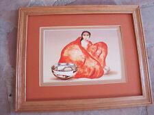 R C Gorman, ZUNI  Framed, matted Zuni print 11 x 14