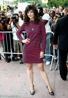 Celine Red Navy Cotton Striped Dress S