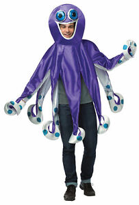 Octopus Ocean Creature Animal Adult Costume Purple Tunic Halloween Rasta Imposta