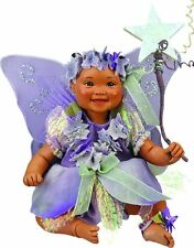 Fairy Wstria Afro African American Brown Black Dark New Porcelain Baby Girl Doll
