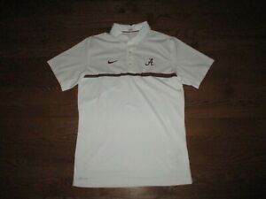 Mens Alabama Crimson Tide Nike Dri-Fit Coaches Polo Golf Shirt Sz. M