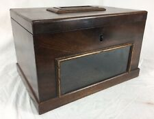 Antique Mahogany Ballot / Voting Box. Potentially Masonic
