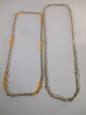Necklace Nwot $39.50 set of 2 piec J.Crew Gold Link Yellow Cream Enamel Layering
