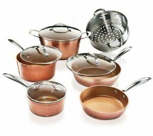 Gotham Steel 10 Piece Hammered Non-Stick Cookware Set - Copper (2304)