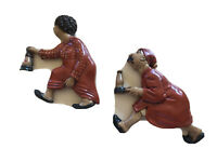 Vtg Arnels Chalkware Wall Hanging Race To The Outhouse Old Man & Old Woman