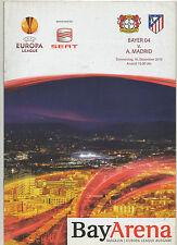 ORIG. prg Europa League 10/11 bayer 04 leverkusen-atletico de madrid rara vez!
