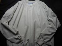 Columbia Light Tan Large Men's Windbreaker V-Neck Shirt