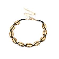 Women Boho Beach Sea Shell Cowrie Pendant Gold/Silver Choker Necklace Jewel Gift