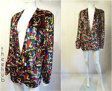 Vtg 70s Rare Luxury Lanvin Paris Silk Velvet Boyfriend Tuxedo Mondrian Jacket