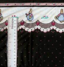 "2-7/8 yards HONEY BUNNY Border Print Daisy Kingdom Cotton Fabric - 46"" wide"