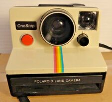 **VINTAGE** Polaroid Land Camera ~ONE STEP~ SX-70 Film White/Rainbow