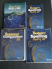 ABEKA VOCABULARY SPELLING & POETRY III & Grammar Composition 9th grade
