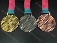 2018 PYEONGCHANG KOREA WINTER OLYMPIC WINNER REPLICA MEDAL - GOLD SILVER BRONZE