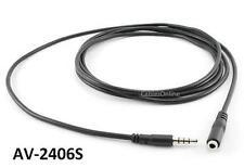 6ft (2m) 3.5mm 4-Position Stereo TRRS Headset Extension Cable - AV-2406S