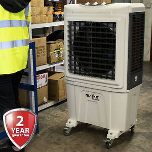 55L INDUSTRIAL AIR COOLER WAREHOUSE WORKSHOP OFFICE EVAPORATIVE 3 SPEED FAN TANK