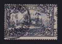 Kiauchau #21 (1901) 3m black violet Kaiser's Yacht Used Tsingtau CDS