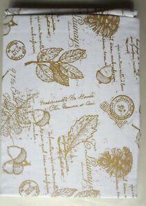 Gold Star Xmas Beige Tablecloth \u2013 100/% Cotton