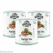 Augason Farms Vegetable Stew Blend - #10 cans - 3 pack Emergency Food Storage